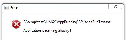 Attempted to run application twice