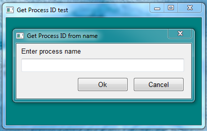 Screen shoot of Get Process ID test .prg